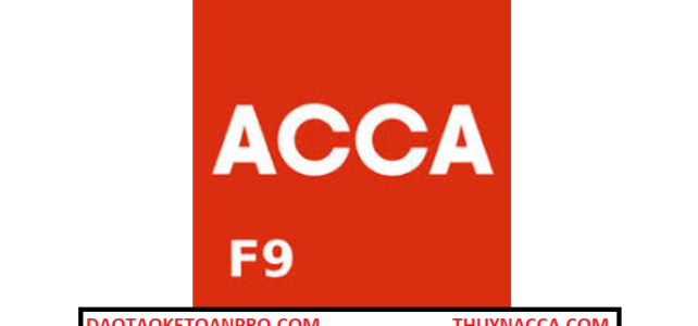F9 ACCA – Financial Management (MS29)